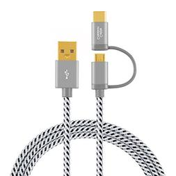 CableCreation USB C Micro USB Cable, 4 ft Braided Type C Mic