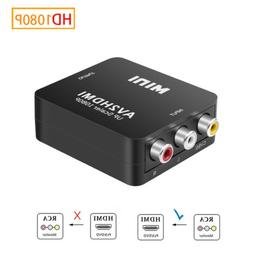 1080P Male To Female  RCA AV TO HDMI Video Converter Adapter