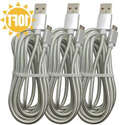 10Ft 3M Braided Micro USB Cable Fast Charge Samsung S7 S6 LG