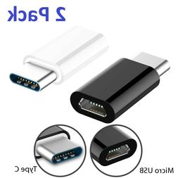 2 X Micro USB to USB 3.1 Type C Converter Charger Adapter fo