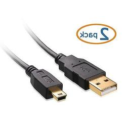 Cable Matters 2 Pack, Gold Plated Hi-Speed USB 2.0 Type A to