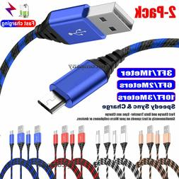 2 pack lot micro usb cable fast