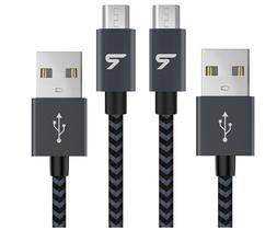 Rampow 2-Pack Micro USB Cable Nylon Braided Data Sync Cord S