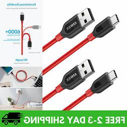 Anker PowerLine+ USB-C to USB A 2.0 Cable for Samsung Galax