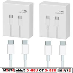 3/6Ft USB C to USB C Cable Type C Fast Charger Charging Cord