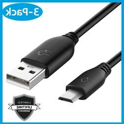 3-Pack High Speed Micro USB Cable Charger Sync Data Cable fo
