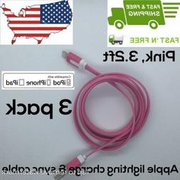 3 PACK - Lightning USB Charger Cable For Original Apple iPho