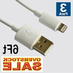3Pack USB Cable Charging Data Sync 6Ft 2M fit with Lightning