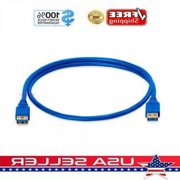 3FT  USB 3.0 SuperSpeed Male A to Female A Extension Cable C