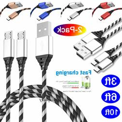 3FT 6FT 10FT Micro USB Data Sync Charger Charging Cable Cord