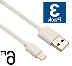3x USB Cable Charger 6Ft 2M compatible with Lightning oem or