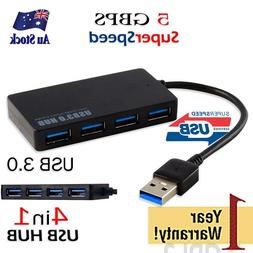 4 port USB 3.0 HUB 5Gbps speed Slim External portable Cable