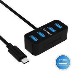 Sabrent 4-Port USB-C to USB 3.0 Mini Portable Hub, The World
