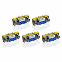 5 X 9Pin RS-232 DB9 Female to Female Serial Cable Gender Cha