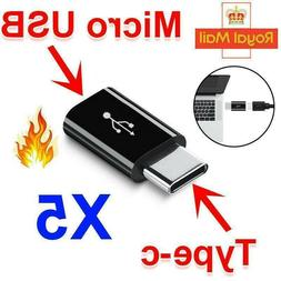 5PCS Micro USB to USB Type C Converter Data Cable Connector