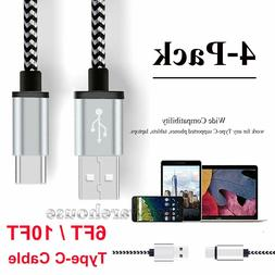 6/10 FT Braided Type C Fast Charging Cable USB-C Rapid Cord