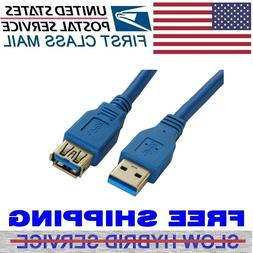 6 Feet USB 3 0 Extension Cable 22AWG Upgraded to Superspeed