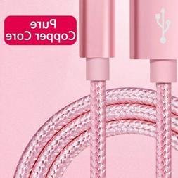 6FT 2M USB Cable For Apple iPhone 6s Plus 5s 7 8 Nylon Data