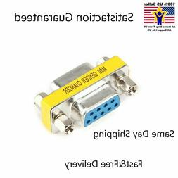 9 Pin RS-232 DB9 Female to Female Serial Cable Gender Change