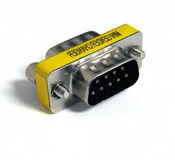 9 Pin RS-232 DB9 Male to Male Serial Cable Gender Changer Co