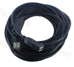 Bargain Cable 50-Feet Black USB 2.0 480Mbps Type A Male to T