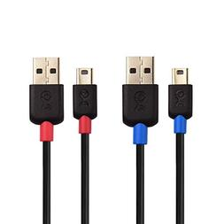 Cable Matters 2-Pack USB to Mini USB Cable  in Black 15 Feet