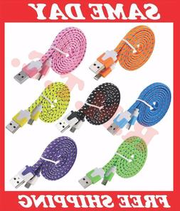LOT MICRO USB CHARGER CABLE ANDROID 3 6 10 FT CELL PHONE DAT