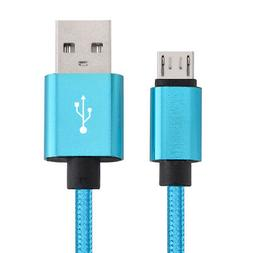 Micro USB Fast Charger Data Sync Cable Nylon Braided Cord fo