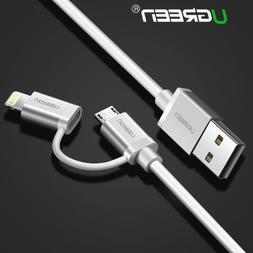 UGREEN Micro USB to Lightning Data Sync Charger Cable For iP
