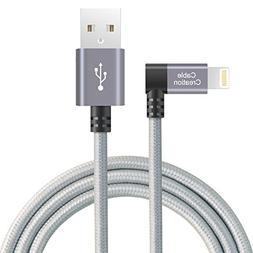CableCreation Angled Lightning to USB Cable, 4FT Apple USB D