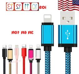 Braided USB Lightning Charger Cable for iPhone 6 7 8 Plus XR