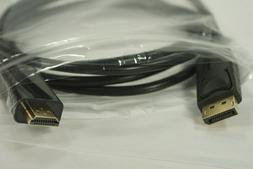 Cable, HDMI to DisplayPort, Computer / Video Interconnect, 6