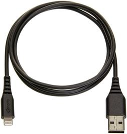 AmazonBasics Certified Lightning to USB 6 ft Cable - Black f