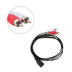 Dual RCA Male to USB Female A Composite Adapter Audio Video