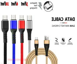 Heavy Duty Micro USB Fast Charger Data Cable Cord For Samsun