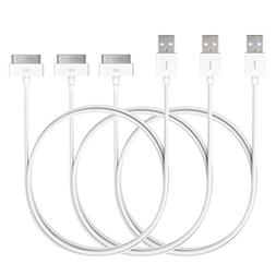 iPhone 4s Cable, JETech 3-Pack Apple MFi Certified USB Sync