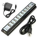 10 Port High Speed USB 2.0 Hub + Power Adapter+USB Cable for
