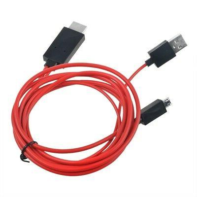 Ablegrid MHL Micro USB HDMI TV Adapter Cable for Samsung Gal