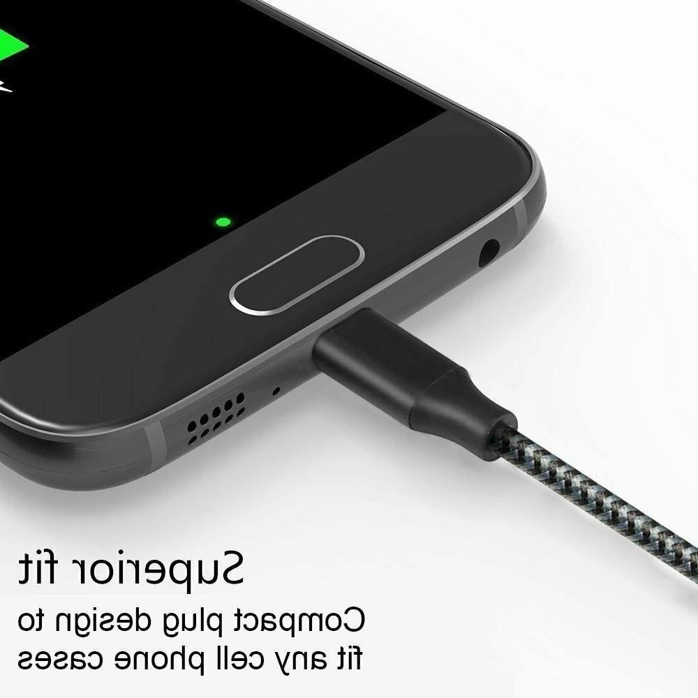 10Ft Micro USB Fast Charger Data Samsung Android