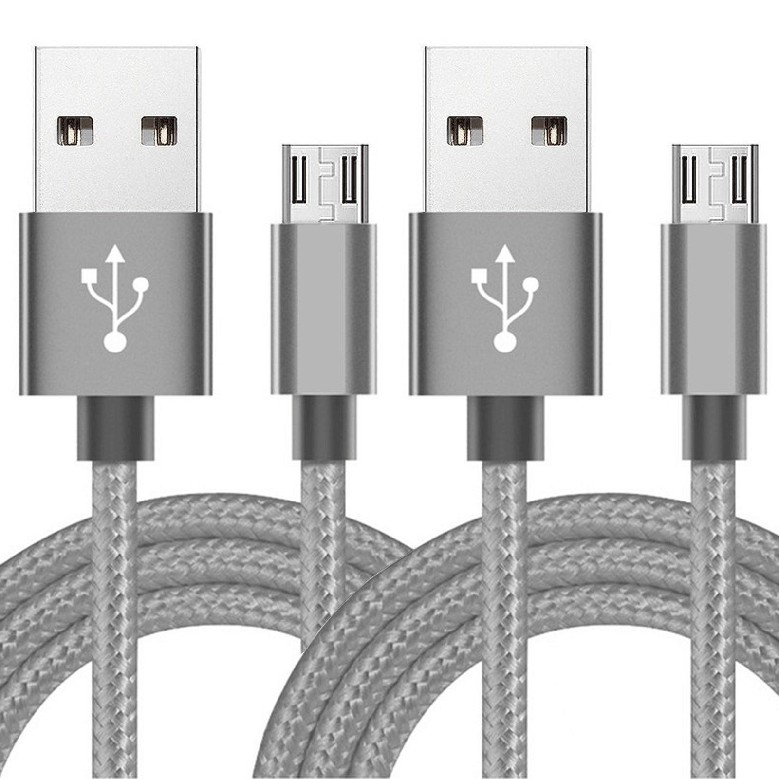 2 pack 6ft micro usb cable fast