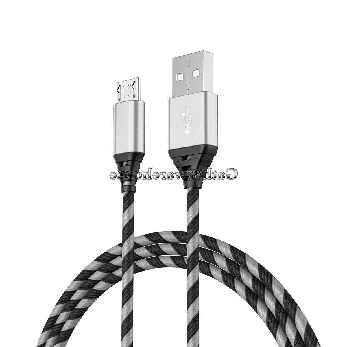 2-PACK For Samsung J3 S7 Edge Note 5 4 Charger USB Cable Cord