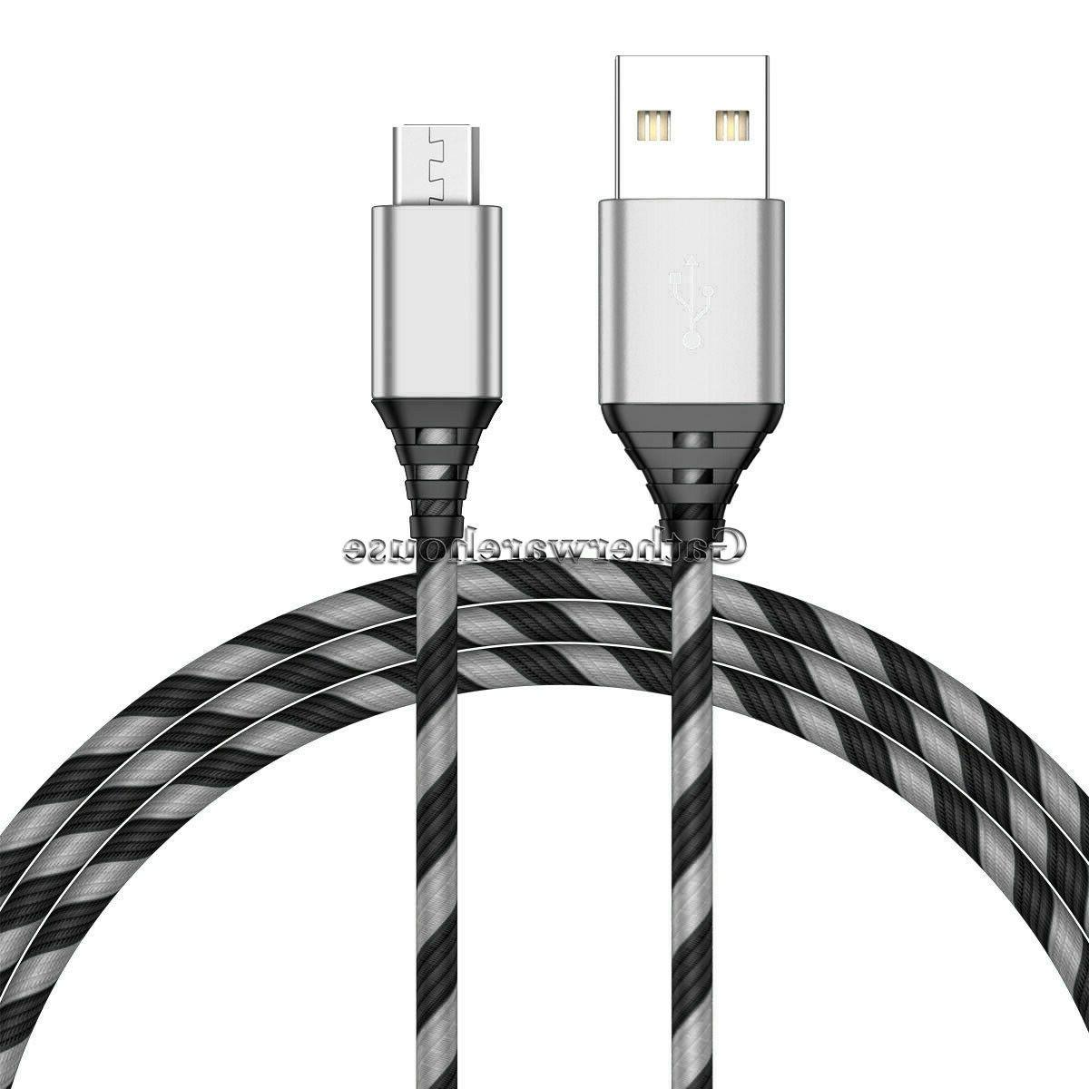 2-PACK For J3 J7 S6 Edge 4 Charger Micro Cord