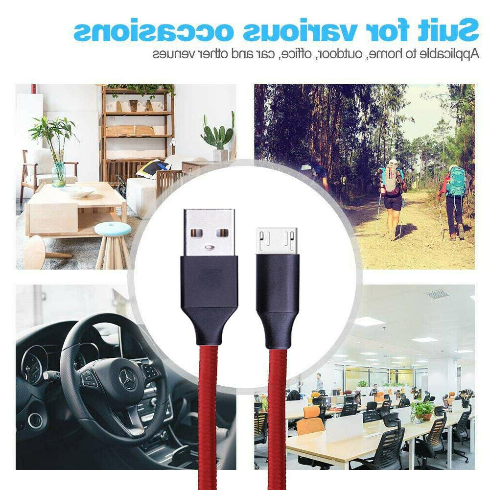 3/6/10Ft USB Charger Data Cable Cord HTC Android
