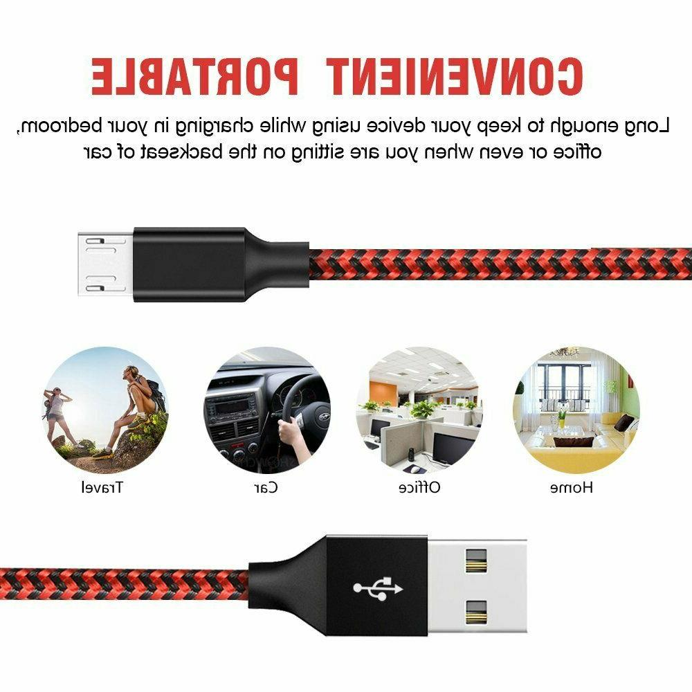3/6/10Ft Micro USB Charger Sync Cord Android