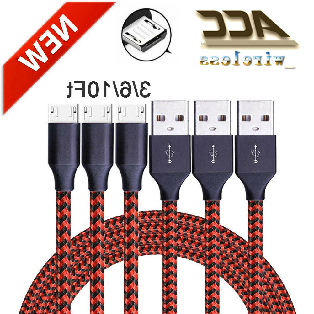 3 6 10ft micro usb fast charger