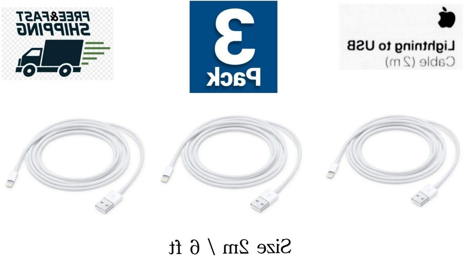 3 oem iPhone 6ft USB Cable charger X 8 7 6S5