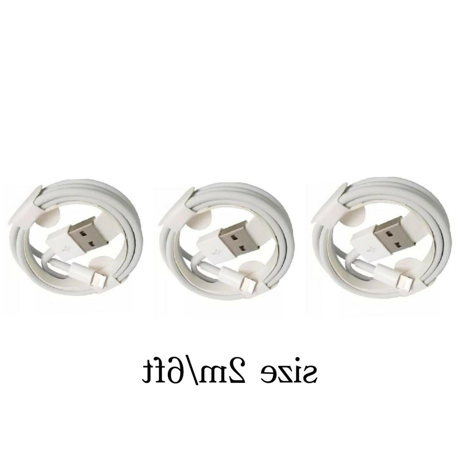 3 Original oem iPhone 6ft charger 6S5