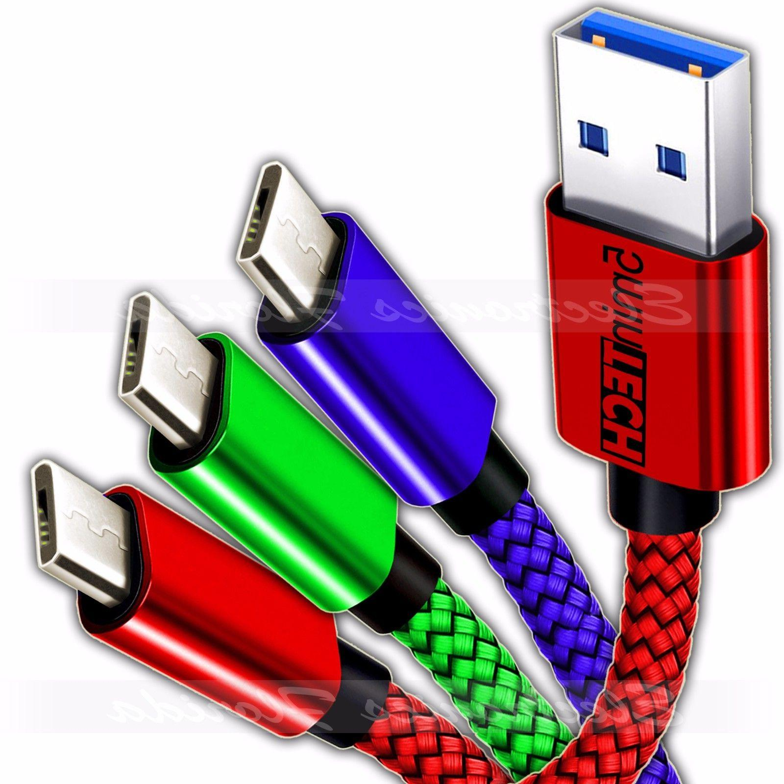 3 pack micro usb nylon braided usb