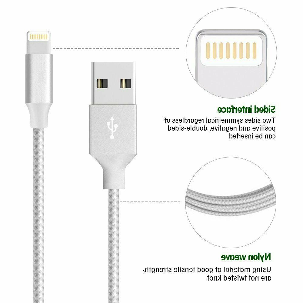 3FT 6FT 10FT USB Charger Sync Cord 6s 7 8 Xs