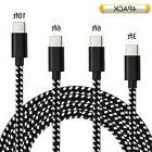 4-Pack Nylon Braided USB 3.0 Type-C Fast Charger Charging Ca